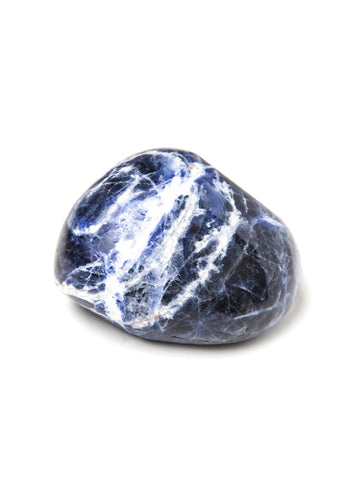 Large tumbled sodalite therapy stone by SoulMakes