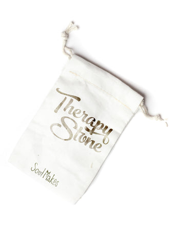 Therapy stone canvas bag by SoulMakes