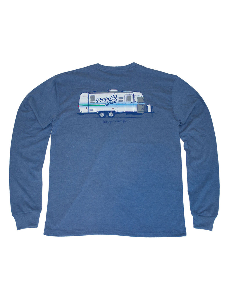 Happy Camper Long Sleeve Midnight Heather