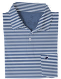 Pocket Polo Navy Stripe