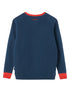Double Stripe Sweatshirt - Blue/Red/Pink