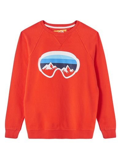 Ski Goggles Sweatshirt - Poppy Red