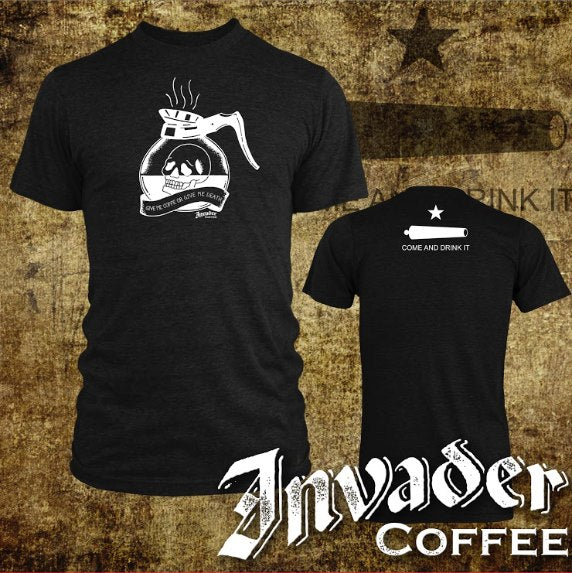 Invader Coffee or Death Shirt