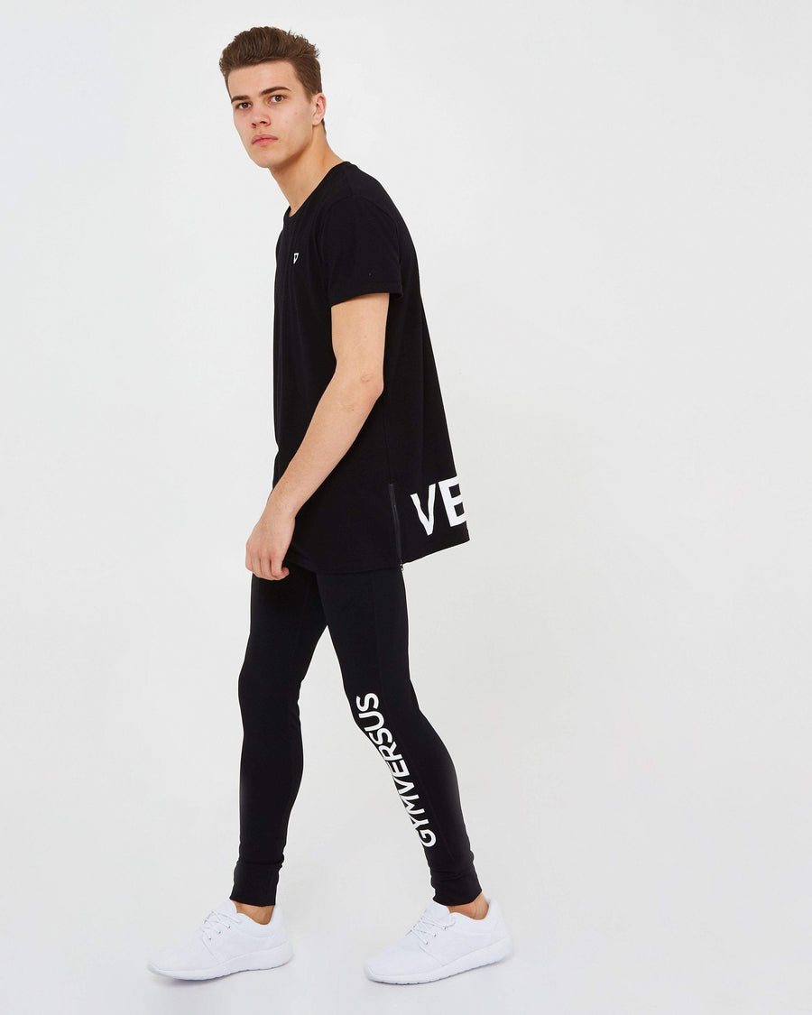Versus Zip Tee - Black