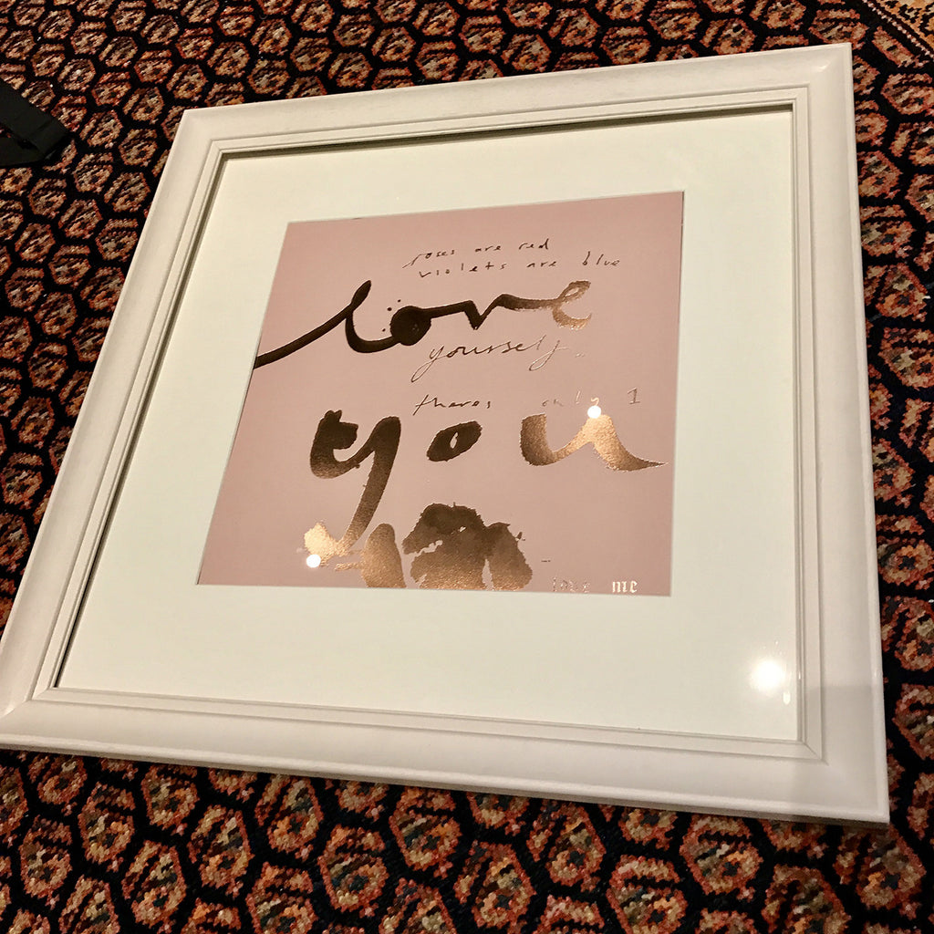LOVE YOU Print (GOLD)