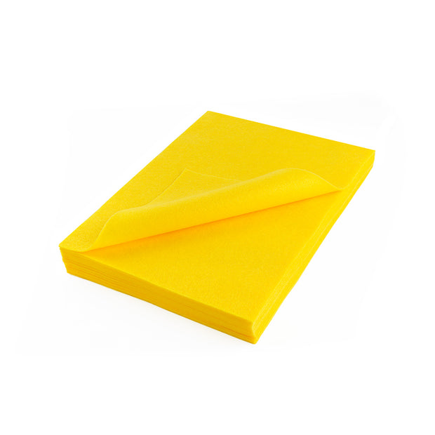 "Acrylic Craft Felt Sheets - 9"" Wide x 12"" Long, Yellow"
