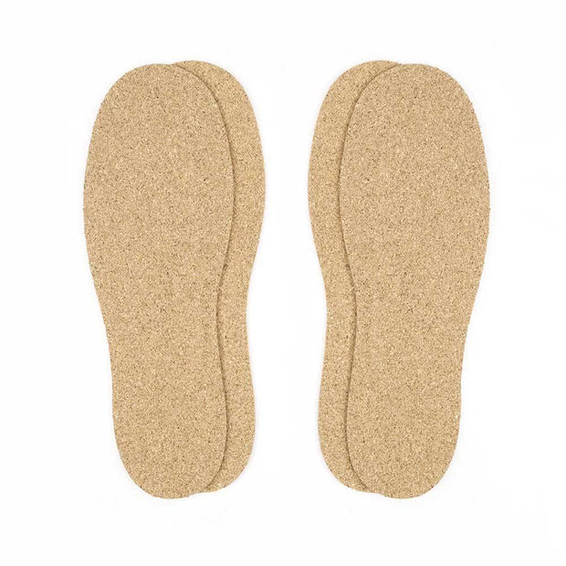 Cork Insoles - 2.5mm Thick, 2 Pair