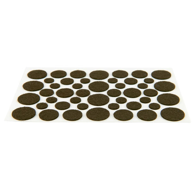 Assorted Light Duty Felt Pads - Brown, 10 Sheets
