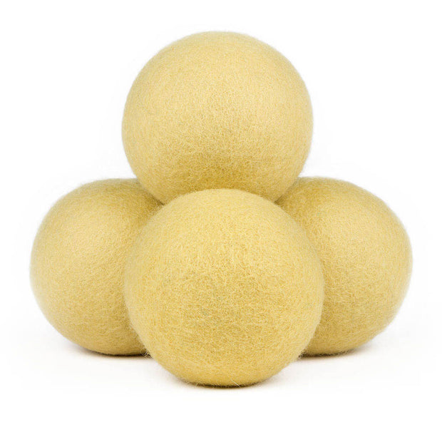 Wool Dryer Balls, Colored – Large, 4 Pieces