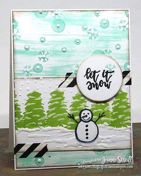 JustRite Winter is Here Clear Stamp