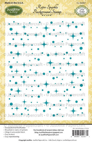 Retro Sparkle Cling Background Stamp