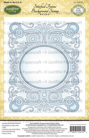 Stitched Frame Cling Background Stamp