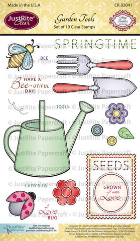 Garden Tools Clear Stamps