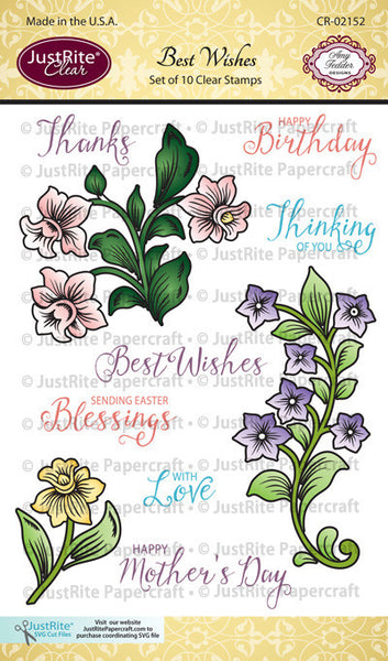 Best Wishes Clear Stamps