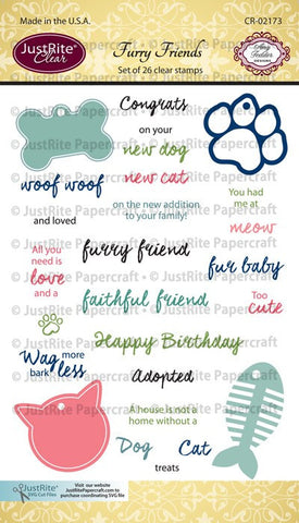 Furry Friends Clear Stamps
