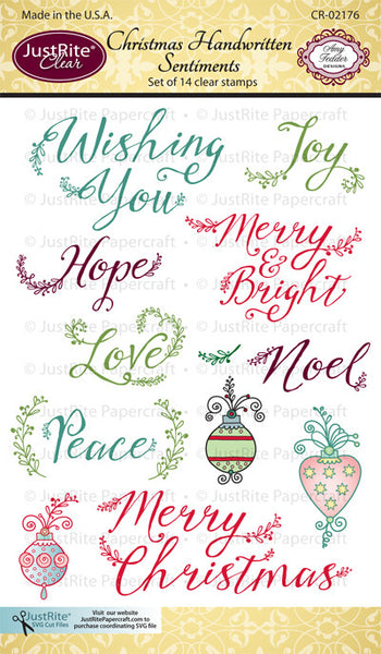 Christmas Handwritten Sentiments Clear Stamps