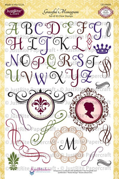 Graceful Monogram Clear Stamps