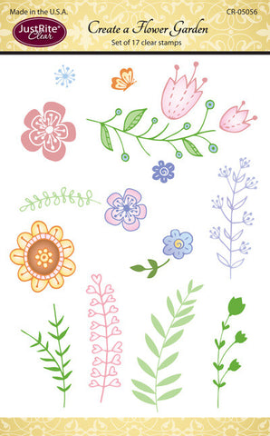 Justrite Create a Flower Garden Clear Stamps