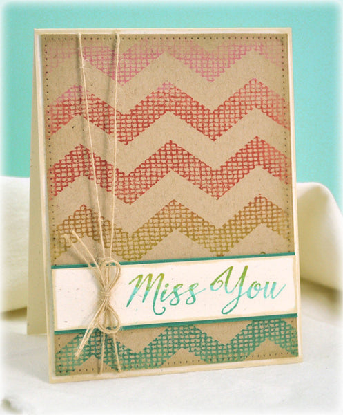 Burlap Chevron Cling Background Stamp