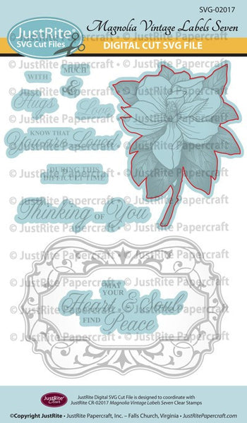 SVG  Magnolia Vintage Labels Seven Digital Cut File Download for CL-02013