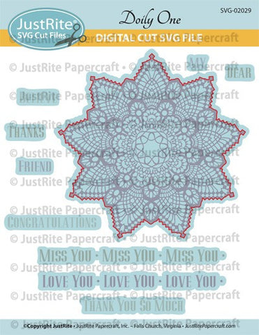 SVG Doily One Digital Cut File Download for CL-02029 Doily One Cling Stamps
