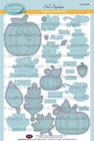 SVG Fall Applique Digital Cut File Download for CR-02098