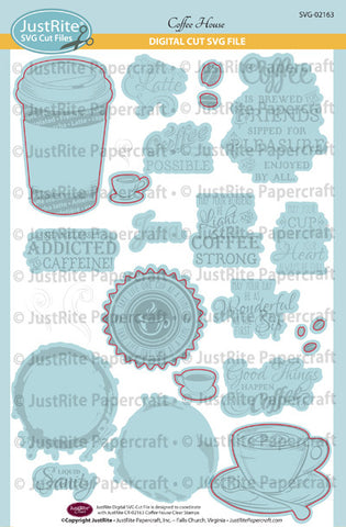 SVG Coffee House Digital Cut File Download for CR-02163