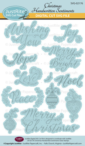 SVG Christmas Handwritten Sentiments Digital Cut File Downloac for CR-02176