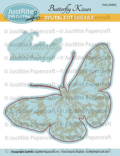 SVG Butterfly Kisses Digital Cut File Download for CL-02001