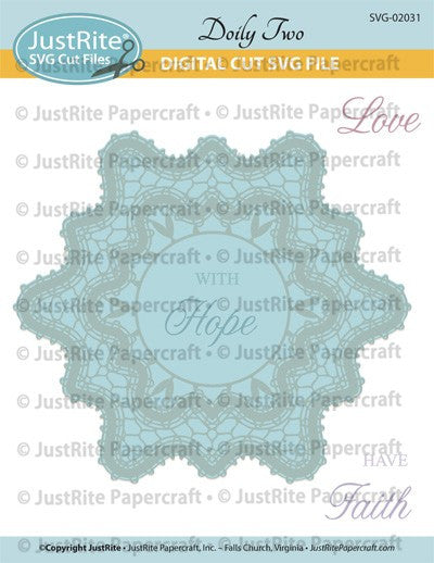SVG Doily Two Digital Download Cut File for CL-02031