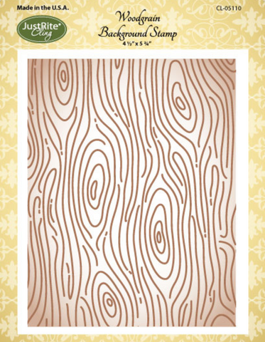 JustRite Woodgrain Background Cling Stamp