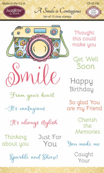 Justrite A Smile is Contagious Clear Stamps