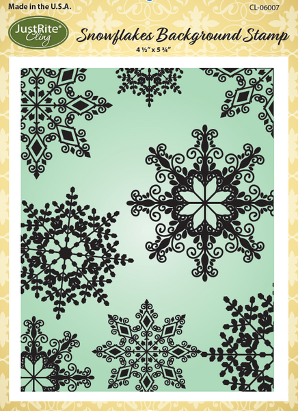 JustRite Snowflakes Cling Background Stamp