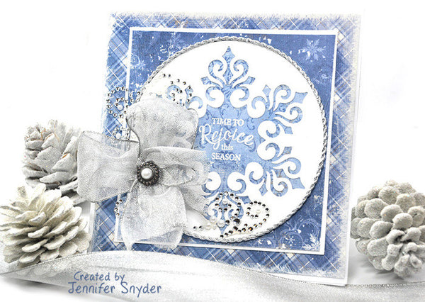 Justrite Inside and Outside Christmas Sentiments Clear Stamps