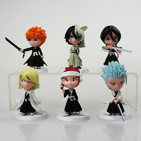 6Pcs/set Bleach PVC Action Figure Model Toys