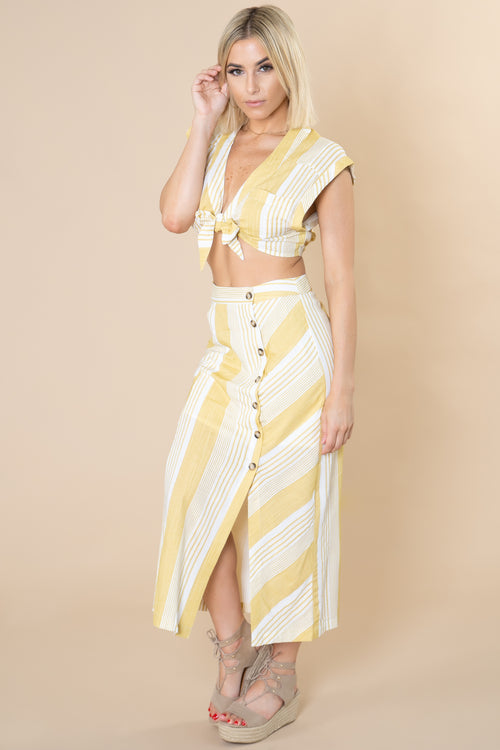 Elsa Striped 2-Piece