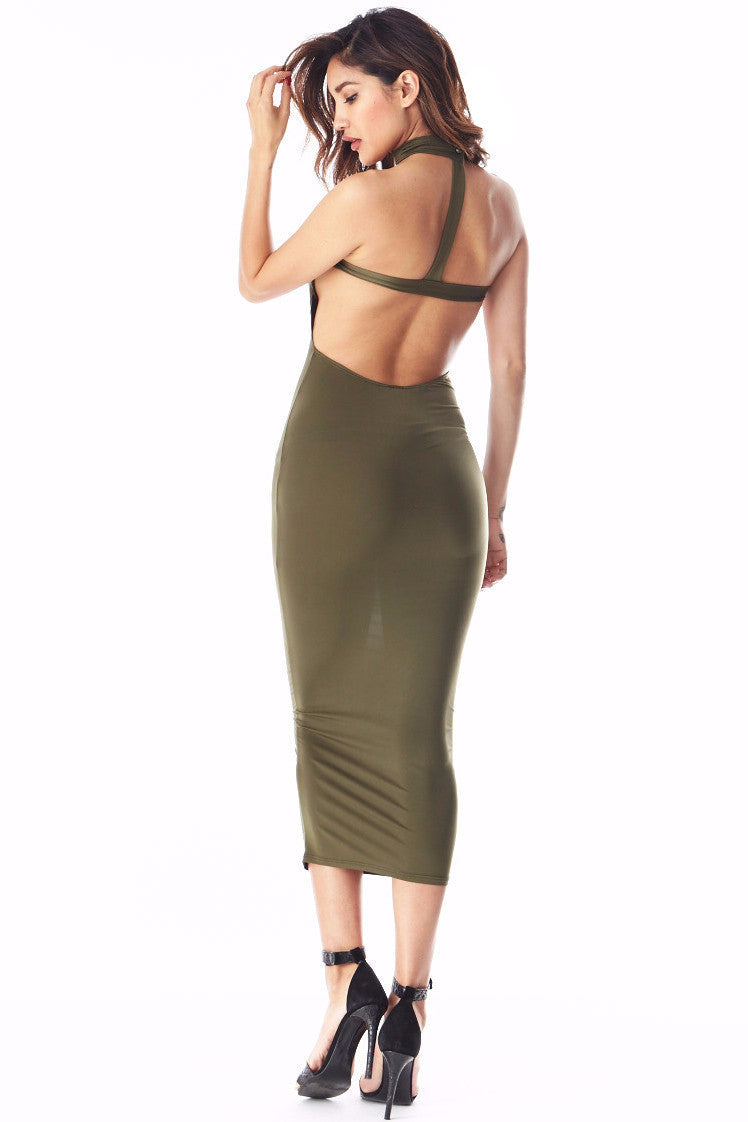 Tiffany Olive Tube Midi , Dresses/Rompers - Fashion Trend LA, Fashion Trend LA  - 3