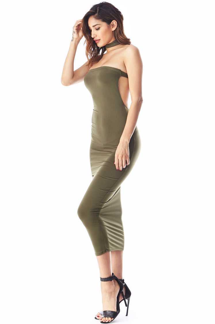 Tiffany Olive Tube Midi , Dresses/Rompers - Fashion Trend LA, Fashion Trend LA  - 2