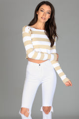 If Looks Could Kill Stripe Crop