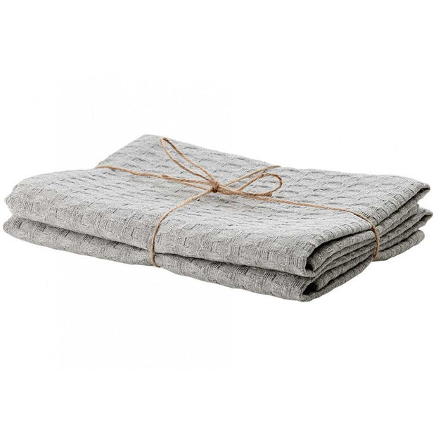 Ladelle Eco Recycled Cotton Kitchen Towel - Light Grey