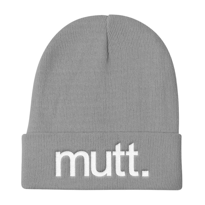 Grey/White Knit Beanie