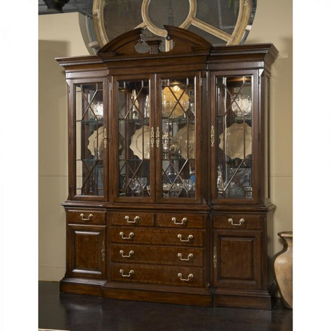 American Cherry Andover Breakfront China by Fine Furniture Design