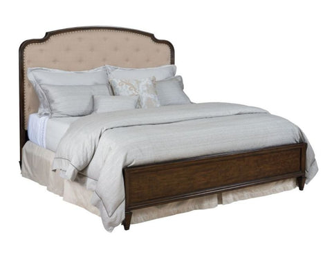 Grantham Hall Cal King Upholstered Panel Bed by American Drew