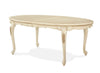 Lavelle Oval Leg Dining Table - Blanc Finish by Aico