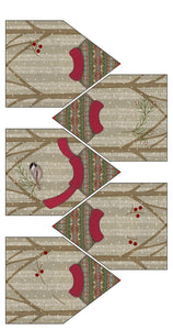 F1804 - Winter Friends Banner Preprinted Fabric