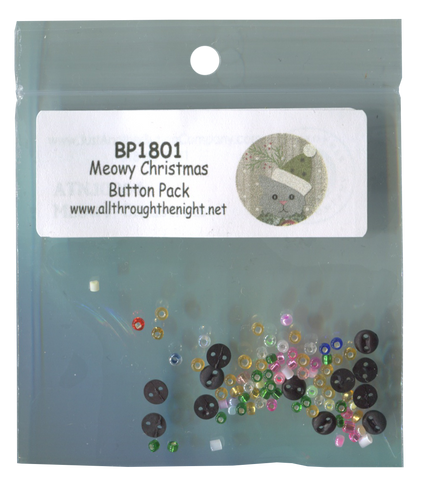 BP1801 - Meowy Christmas Button Pack