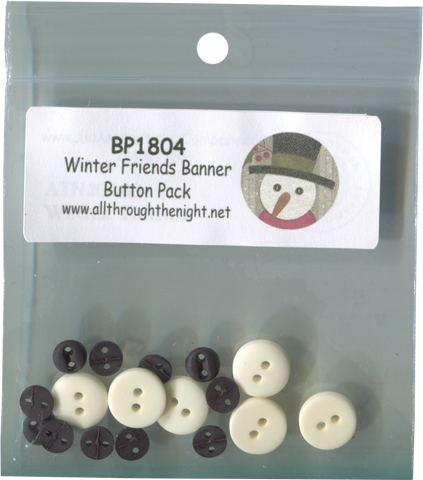 BP1804 - Winter Friends Banner Button Pack