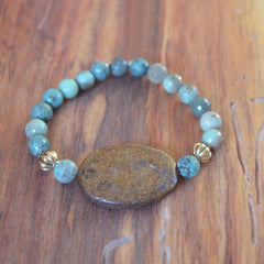 Jasper and Turquoise Stretch Bracelet