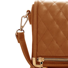 Brown Quilted Messenger