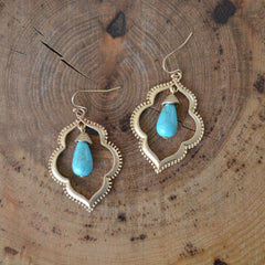 Boho Turquoise Drop Earrings